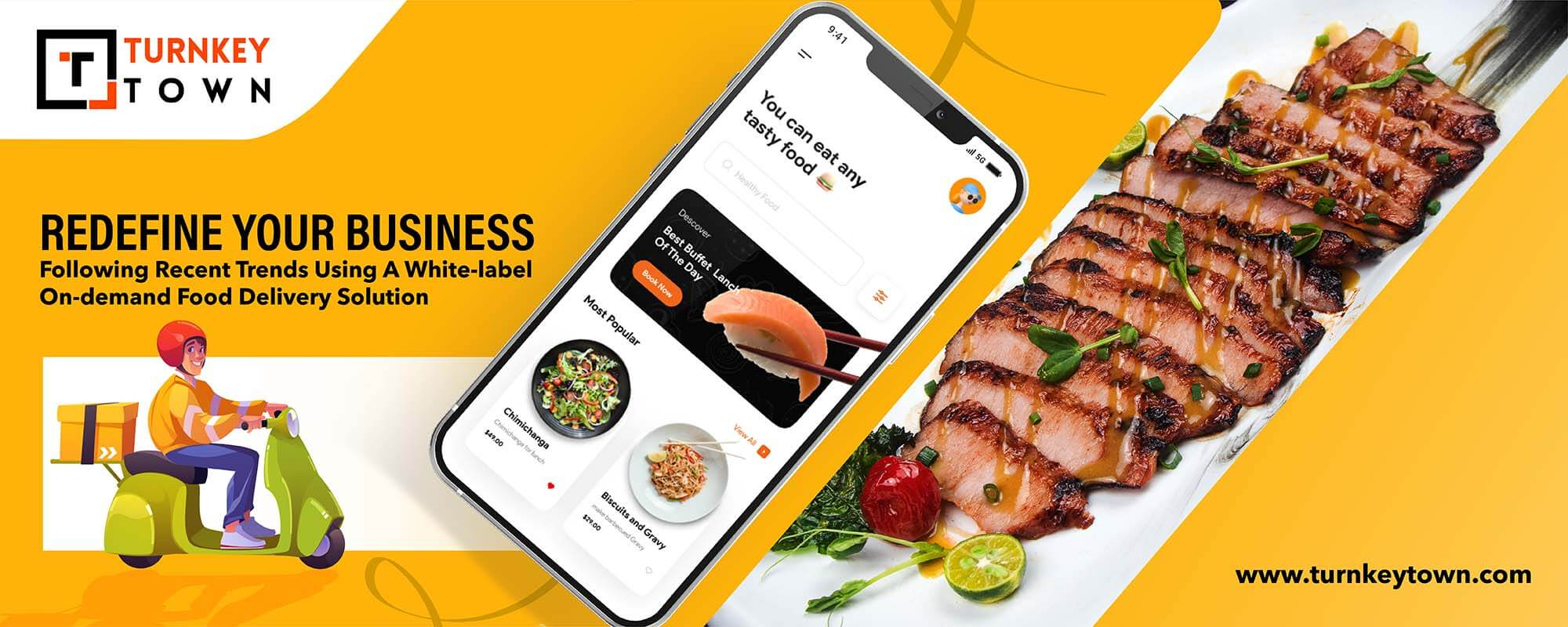 White-Label On-Demand Food Delivery Solution