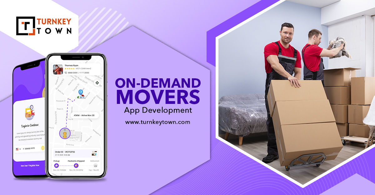 On-demand movers and packers app
